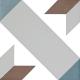 Dlažba Neocim Classic Decor Optique Mer | 200x200 | mat