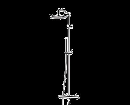 EQ | Sprchový set | nástěnný | Termostatické | černá s dekorem lesk