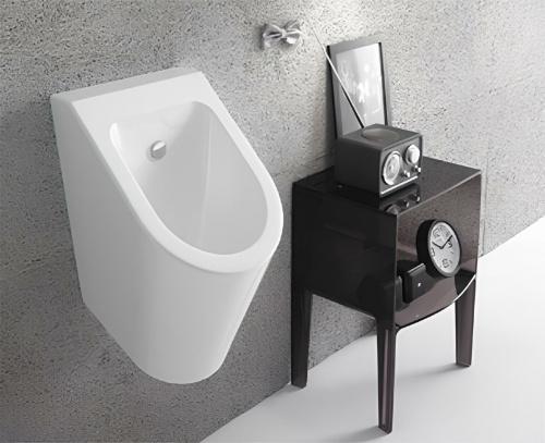 Pisoár Forty3 | pro 320x370 mm | Bílá lesk