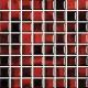 Mozaika Fantasy 39 Red & Black   18x18mm   lesk