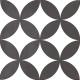 Dlažba Neocim Classic Decor Fleur Noir | 200x200 | mat