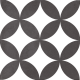 Dlažba Neocim Classic Decor Fleur Noir   200x200   mat