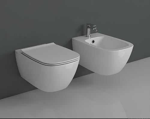 WC Genesis   550x360x330 mm   závěsné   Bílá lesk   Rimless