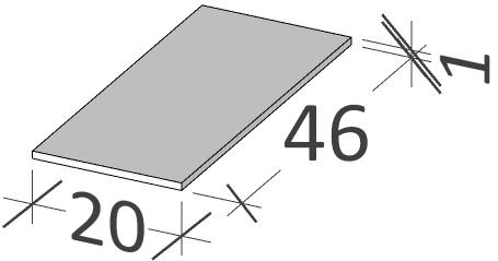 46 | Horní deska | BUDDY | 200 x 460 | Copper