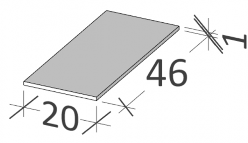 46 | Horní deska | BUDDY | 200 x 460 | Forsted