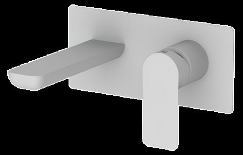 Umyvadlová baterie INFINITY | podomítková páková | jednoprvková | bílá mat