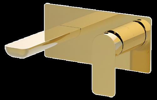 Umyvadlová baterie INFINITY   podomítková páková   jednoprvková   zlatá lesk
