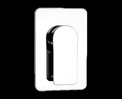 Podomítkový modul INFINITY | pákový jednocestný | černá mat