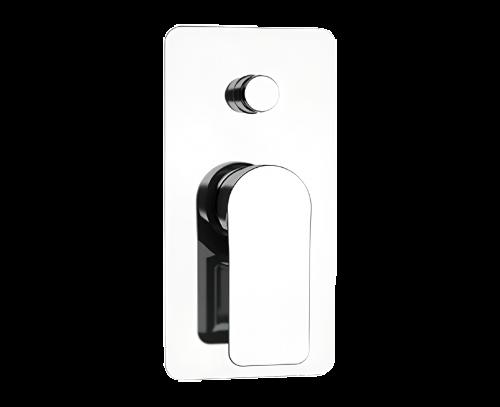 Podomítkový modul INFINITY | pákový dvoucestný | černá mat