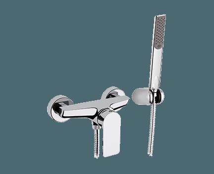 Sprchová baterie INFINITY + ruční sprška + hadice + úchytka na ruční spršku | nástěnná | černá mat