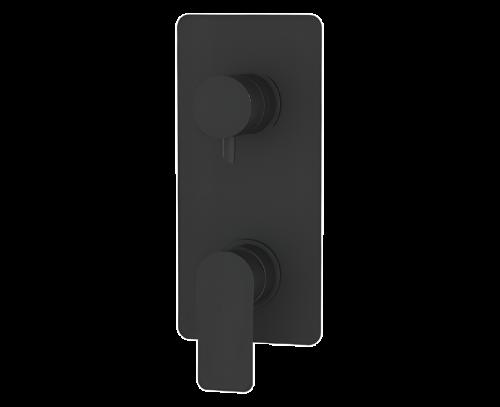 Podomítkový modul INFINITY | pákový trojcestný | černá mat