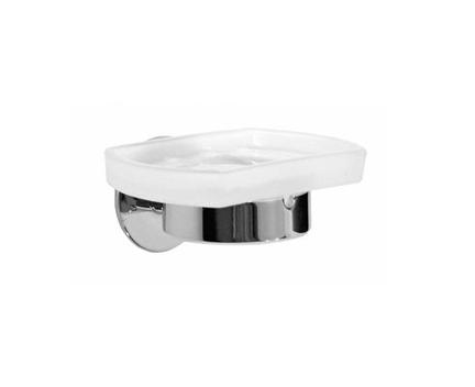 Držák na mýdlo Time s skleněnou mýdlenkou