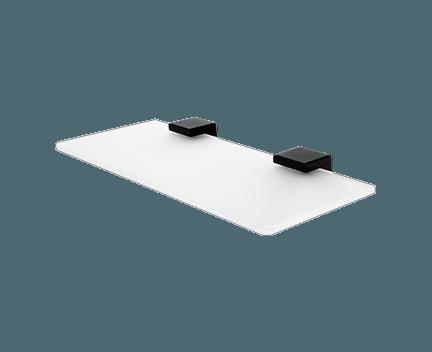Polička Kibo bez ohrádky | 30cm | černá mat