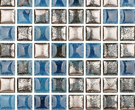 Mozaika Luxor 68 Turquoise   18x18mm   lesk