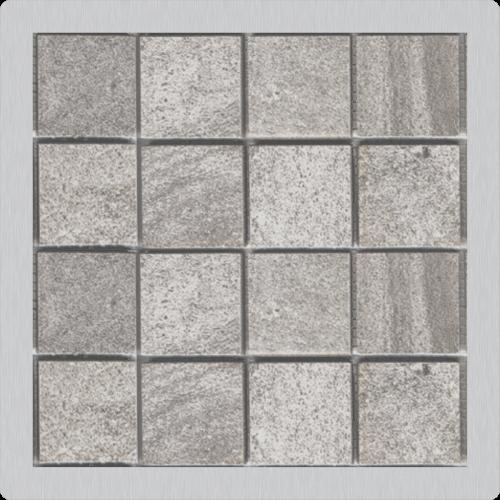 Mřížka pro nerezové vpusti | 102x102 mm | nerez | pro vložení dlažby