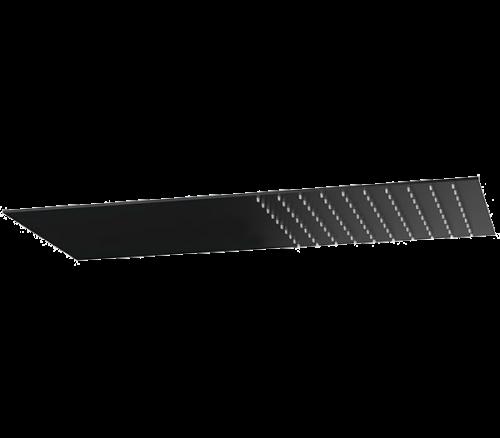 Sprchová hlavice Jazz Ultraslim | nástěnná | 500x250 | leštěná nerez | hranatá | černá mat