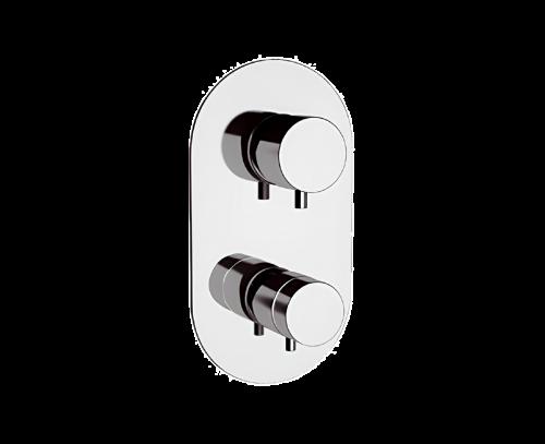 NT93 | Podomítkový modul MINIMAL THERMO | pákový trojcestný | termostatický | chrom lesk