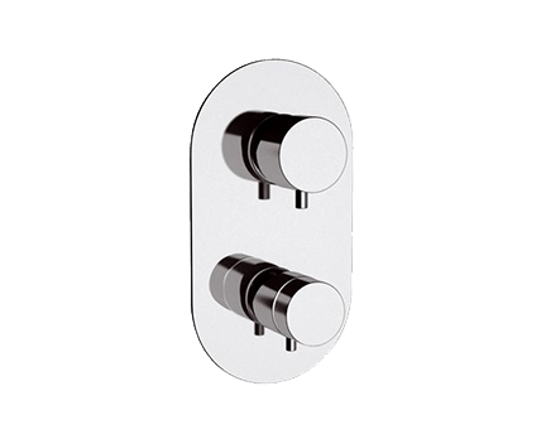 NT93   Podomítkový modul MINIMAL THERMO   pákový trojcestný   termostatický   chrom lesk