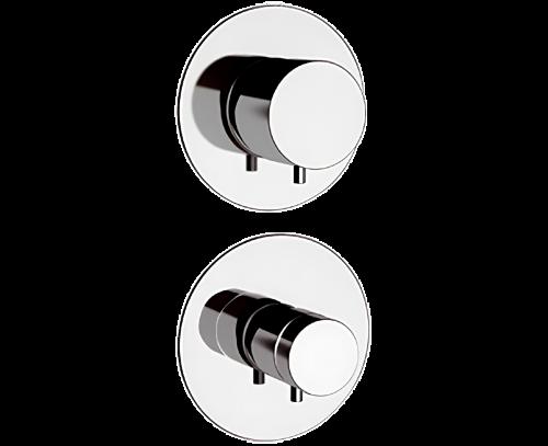 NT94 C   Podomítkový modul MINIMAL THERMO   pákový čtyřcestný   termostatický   chrom lesk