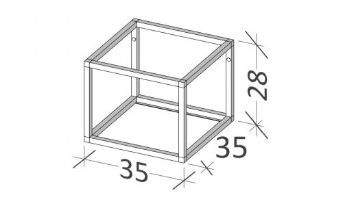 35 | Rám na nábytek | BUDDY | 35 | černá