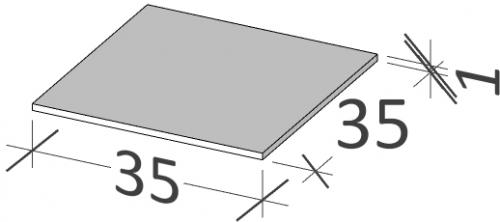 35 | Horní deska | BUDDY | 350 x 350 | Forsted
