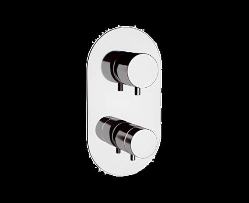 NT92   Podomítkový modul MINIMAL THERMO   pákový dvoucestný   termostatický   broušený nikl lesk