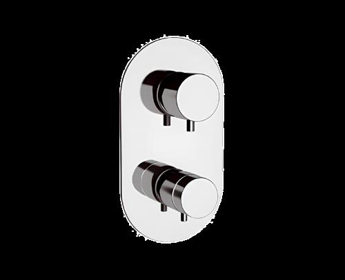 NT94 | Podomítkový modul MINIMAL THERMO | pákový čtyřcestný | termostatický | broušený nikl lesk