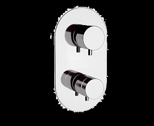 NT95 | Podomítkový modul MINIMAL THERMO | pákový pěticestný | termostatický | chrom lesk
