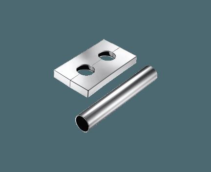 Rozeta pro 50mm připojení chrom