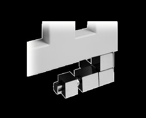 Ventil CUBE pravé + termostatická hlavice chrom