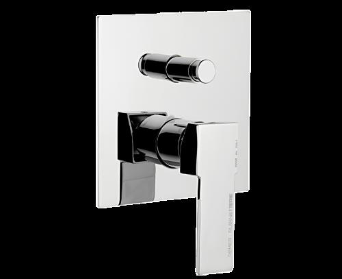 Q09 | Podomítkový modul QUBIKA | pákový dvoucestný | chrom lesk