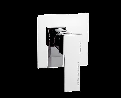 Q30 | Podomítkový modul QUBIKA | pákový jednocestný | chrom lesk