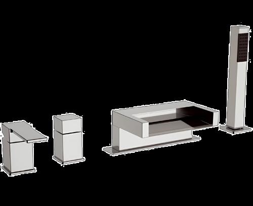 QC 06 | Vanová baterie Qubika | stojánková | Pákové | chrom lesk