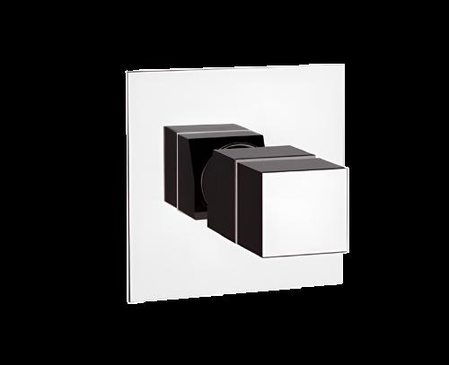 QT30   Podomítkový modul QUBIKA THERMO   pákový jednocestný   termostatický   chrom lesk