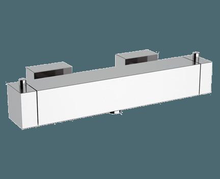 QT 31 F   Sprchová baterie QUBIKA THERMO   nástěnná termostatická   chrom lesk