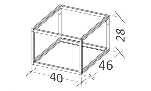 46 | Rám na nábytek | BUDDY | 40 | černá