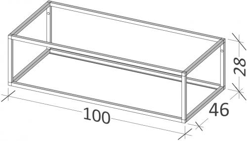 46 | Rám na nábytek | BUDDY | 100 | černá