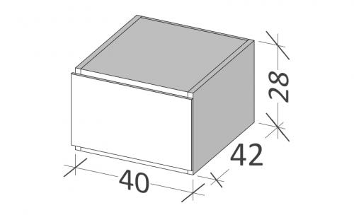 Skříňka BUDDY | 400 x 420 x 280 mm | Frosted
