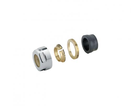Svěrné šroubení pro ventil COMBI, EASY, TWIN, TWIN-COMBI, ONE, sada 2 ks | pro měď 15mm | nerez