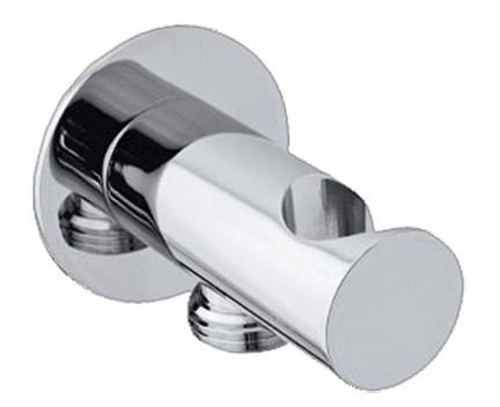 Pevný držák sprchy, vývod vody | chrom