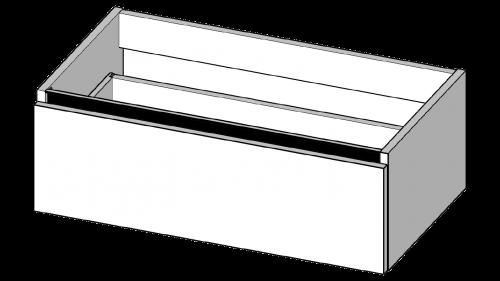 46   Spodní skříňka bez omezení prostoru   bezuchytková černá   Copper   400 x 460 x 280