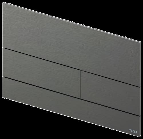 Ovládací WC modul  Square II   kartáčovaný černý chrom