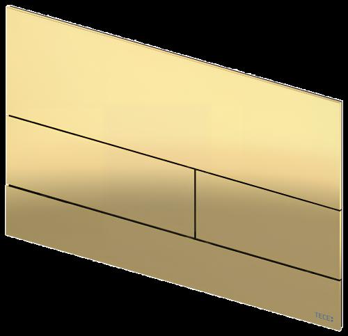 Ovládací WC modul  Square II   lesklá optická zlatá