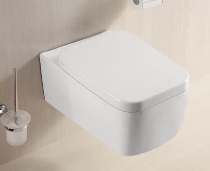WC ZAHA 370 x 555 x 340 | závěsné | bílé + sedátko Soft Close