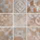 Dlažba Toscana Terracotta/Grigio | 200x200 | Decor R9