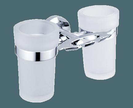 Hygienický set Unix (držák kartáčků a skleněných pohárků)
