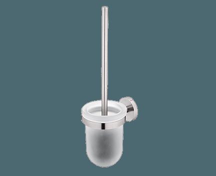 WC kartáč Unix se skleněnou nádobou | broušená nerez