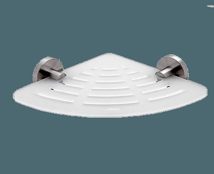 Polička IXI UNIX | rohová s příčným frézováním | broušená nerez