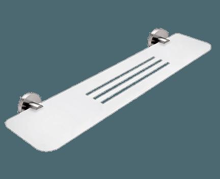 Polička IXI UNIX | s příčným frézováním 60cm | broušená nerez