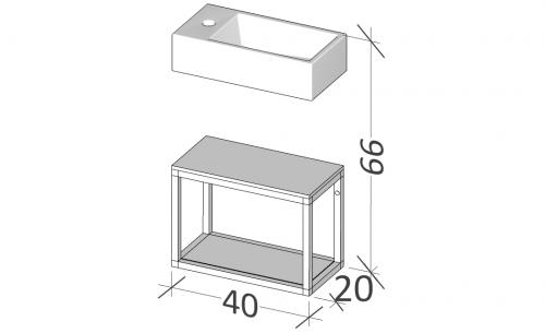 20 | Rám na nábytek | BUDDY | 40 | černá